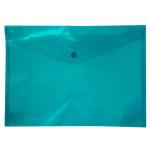 Тека-конверт А4 на кнопці Buromax Бірюзовий (BM.3926-06)